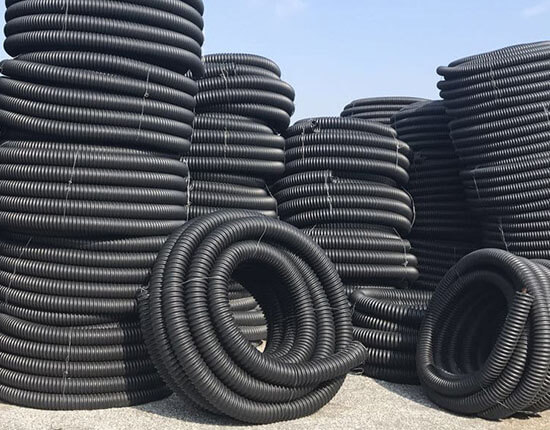 HDPE carbon spiral pipe show