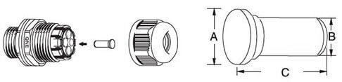 Plastic cable gland plugs for multiple hole sizes