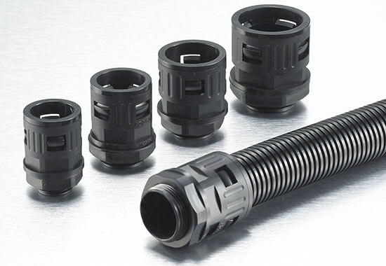 plastic conduit quick connector with plastic flexible conduit