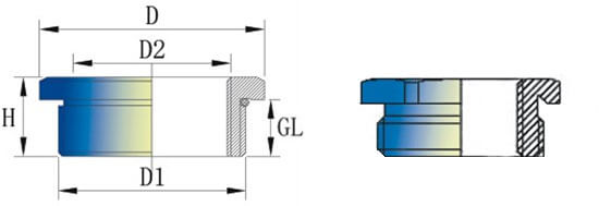 circle and hexagon cable gland reducer structure