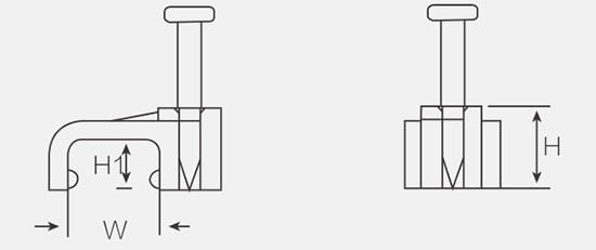 square cable wall clips structure
