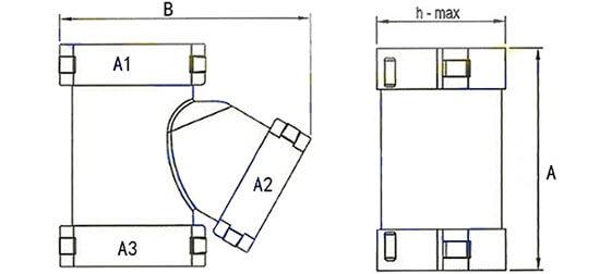 wire loom Y connectors structure