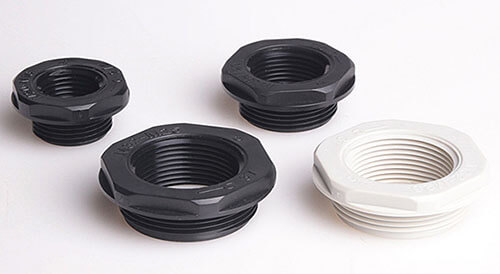 black and grey nylon cable gland reducer