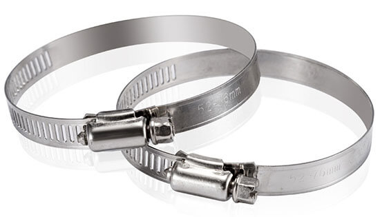 stainless steel hose clamps show