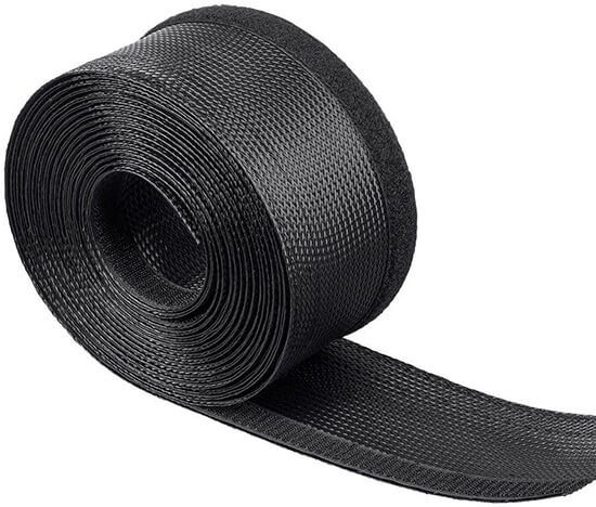 velcro braided cable wrap in roll